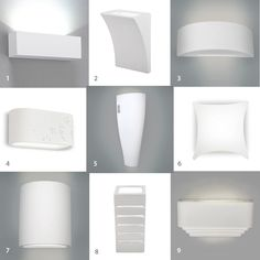Single / Pair of LED Indoor White Ceramic Wall Light Fittings Uplighter Lights in Home, Furniture & DIY, Lighting, Wall Lights   eBay