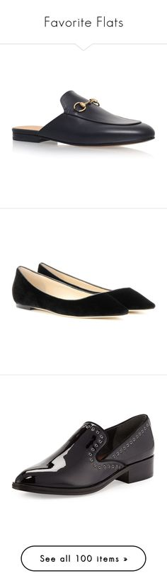 """""""Favorite Flats"""" by gracebeckett ❤ liked on Polyvore featuring shoes, loafers, horse bit shoes, backless shoes, loafer shoes, real leather shoes, leather shoes, flats, sapatilha and sapatos"""