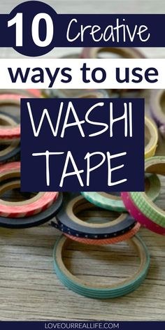 Washi tape has SO many uses! Learn 10 different fun ways to use washi tape around the house! It's not just for your daily planner! Washi Tape Uses, What Is Washi Tape, Easy Home Decor, Do It Yourself Home, Planner Pages, Light Switch Covers, Tea Light Candles, Mom Blogs, Diy Tutorial
