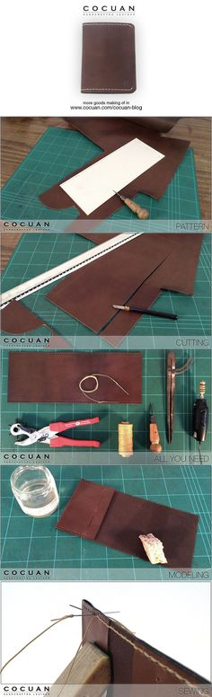 Passport wallet making of www.cocuan.com