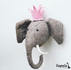 One of my favorite #NurseryDecor items are these beautiful animal heads 🐘 US$165 -- especially the elephant.  I love ❤️ how the pink crown 👑 accessory changes the entire look. People are so creative 👌🏻 Like on Instagram @LiapelaModernBaby