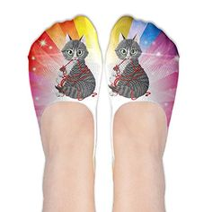8d57ef75 Cute Funny Love Cat Womens No-Show Socks Funny Novelty Low Cut Liner ...