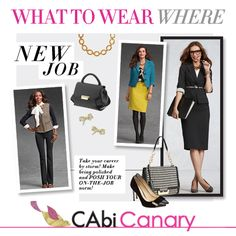 For every place you need to go, be sure to have your CAbi wardrobe in tow! This week's CAbi Canary Blog is all about What to Wear Where!