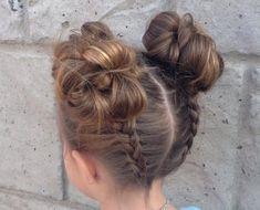 coiffure pour petite fille idées coiffure facile chignon