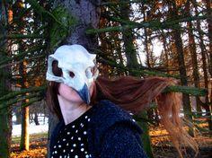 Rabe weiß Knochen Schädel Maske