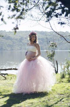 Light Pink FullLength Romantic Long Tutu Skirt by IBCBoutique