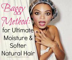 Rockin' it Napptural-: Natural Hair Basics: The 'Baggy Method' for Ultimate Moisture & Softness