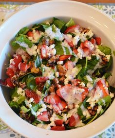 Fresh and Delicious Spring Salads - Strawberry Spinach Salad