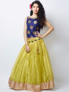 Shop G3 Exclusive net party wear olive lehenga choli online from G3fashion India. Brand - G3, Product code - G3-GCS0283, Price - 6795, Color - Olive, Fabric - Net,