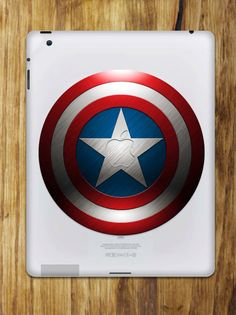Your place to buy and sell all things handmade Captain America Shield, Capt America, Apple Stickers, Chicago Cubs Logo, Apple Ipad, Ipad Case, Nerdy, Decals, Superhero