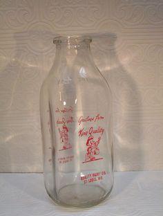 King Quality Dairy Bottle Milk St Louis Missouri Mo by ozarksfinds