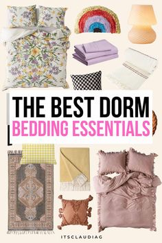 My friend was looking for boho dorm bedding and she finally found it. Wow these dorm bedding ideas are all so great but the boho one is just perfect. Can't wait to try it! Dorm Bedding Sets, Bedroom Decor On A Budget, College Dorm Rooms, College Hacks, Dorm Room Organization, Dorm Essentials, Room Ideas, Boho, College Dorm Essentials