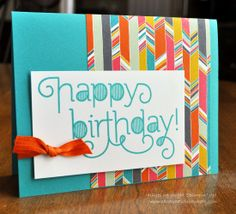 Clean and Simple Birthday Card; Stampin Up; Age Awareness; Card Creations by Beth