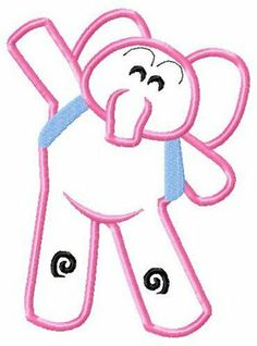 Elly Elephant Applique Embroidery Design by CuteByKira on Etsy Elephant Applique, Applique Embroidery Designs, Picture Design, Say Hi, Custom Clothes, 2nd Birthday, Hello Kitty, Projects To Try, Ely