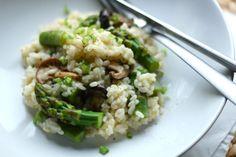 asparagus and shiitake risotto.