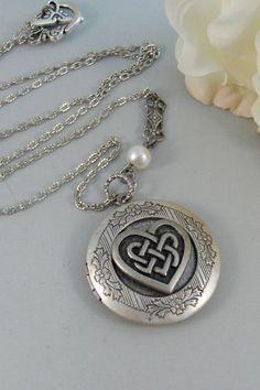 Celtic HeartLocketSilver LocketCeltic by ValleyGirlDesigns on Etsy
