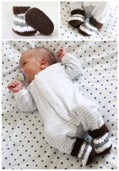 Návod na háčkované bačkůrky pro miminko