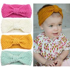 - Baby Mädchen stricken häkeln Turban Stirnband warme Stirnbänder Haarschmuck f… Baby Girl Knit Crochet Turban Headband Warm Headbands Hair Accessories for Party – - Bandeau Crochet, Crochet Turban, Knitted Headband, Knit Crochet, Crochet Headbands, Autumn Crochet, Flower Crochet, Crochet Socks, Warm Headbands