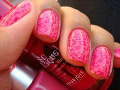 Pink Leopard Mani