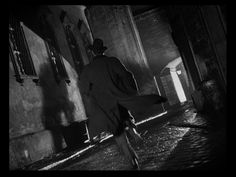 very black-and-white and no-gray-tones Film Noir world, particularly in the hands of a master like Mr. Welles in films like The Third Man Dutch Angle, Cthulhu, Carol Reed, Classic Film Noir, Mystery Film, Mass Culture, The Third Man, Dark City, Perspective Drawing