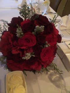 The willows by wehr  Columbiana ohio florist  Beautiful red rose bridal bouquet