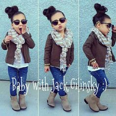 Omg..she is so cute..love this outfit. .my little girl would rock this!