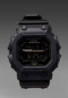 G-SHOCK Big Digital Matte Black - the workhorse of the stable G Shock Watches, Sport Watches, Cool Watches, Watches For Men, Casio G-shock, Casio Watch, Audemars Piguet, Patek Philippe, Tactical Wear