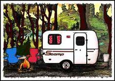 Scamp travel trailer artist Darline Grubbs