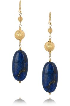 Chan Luu lapis earrings.  I love this whole line of lapis and gold!