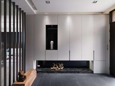 Amazing contemporary residence located in Hsinchu, Taiwan, designed by Vattier Interior Design. Home Goods Wall Decor, Home Decor, Shoe Cabinet Design, Contemporary Kitchen Cabinets, Japanese Interior, Living Room Designs, Interior Architecture, Contemporary Design, Furniture Design