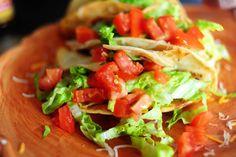 Pioneer Woman's chicken tacos