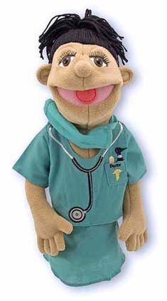 Melissa & Doug Surgeon Puppet With Doctor Scrubs and Detachable Rod Doctor Scrubs, Surgeon Doctor, Puppet Show, Melissa & Doug, Lets Play, Cute Characters, Toy Store, Kid Shoes, Kids And Parenting