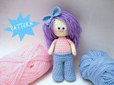 Amigurumi Pattern Crochet Girl Pattern Amigurumi Doll by AllSoCute, $4.00