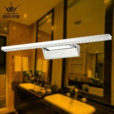 Led mirror light modern bathroom lamp mirror cabinet vanity dressing table lamps anti fog mirror lamp stainless steel lighting-inCeiling Lig...