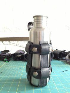 Recycled Bike Inner Tube Bottle Holder  Adjustable by KrakenWhip