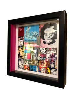 Title: Guts One of a series of 'One Off' unique box frames handmade and printed from original photography for Breast Cancer research on the 'Power of Women' depicted in graffiti and street art in London. 20% of the profit of each sale is to be given the Breast Cancer Research. This one features a dog tag with the embossed word 'Guts' on it, as the amount women have to put up with quite franckly take guts to deal with! Size: 250mm Sq