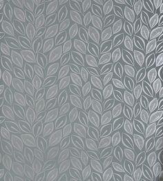 Leaves Wallpaper by MissPrint Graphite/Silver £59.95 | Jane Clayton