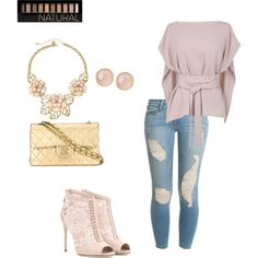 smooth and Nude by latoya-lorraine on Polyvore featuring polyvore mYoda style TIBI Frame Denim Dolce&Gabbana Chanel Saachi Gemma Simone Forever 21