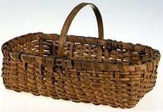 Old Baskets, Vintage Baskets, Wicker Baskets, Primitive Antiques, Country Primitive, Primitive Furniture, Sisal, Garden Basket, Basket Weaving