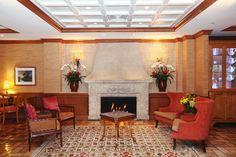 Fireplace in Riverside Hotel Lobby  Riverside Hotel, downtown Fort Lauderdale