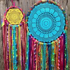 Another beautiful dreamcatcher duo www.instagram.com/lunamade #dreamcatcher #doilydreamcatcher #handmade #homedecor