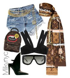 """""""Untitled #986"""" by milkynyc on Polyvore featuring Ravel, Alexander Wang, Chanel, CÉLINE and Louis Vuitton"""