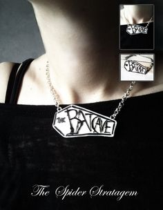 Gothic necklace The batcave coffin goth by SpiderStratagem, €18.00