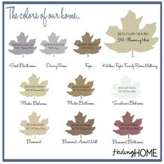 Finding Paint Colors - The selections for our home at Finding Home (findinghomeonline.com)
