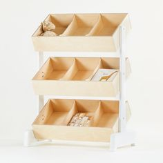 Shop Oeuf Toy Store Storage Bin. With an innovative design that gives easy access to little hands, the Oeuf Toy Store Storage Bin is a tribute to classic toy store bins. The two-tone design makes it easy to coordinate, while the natural construction shows off the wood's grain.
