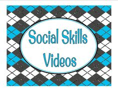 Great collection of social skills videos compiled by Julie C. on Pinterest. Great for classroom/home use.