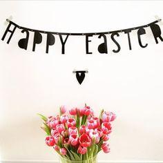 #Wordbanner #tip: Happy easter - Buy it at www.vanmariel.nl - € 11,95