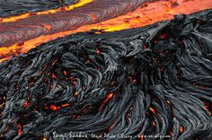 Kilauea lava | River of molten lava, close-up, Kilauea Volcano, Hawaii Islands ...