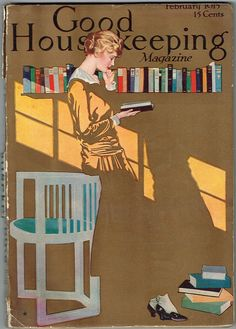 Vintage Magazine Cover by Coles Phillips - February 1915