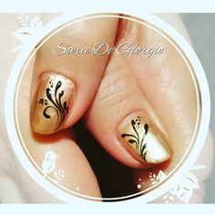 """I love the simplicity and the definite contrast of this. Shellac in Iced Cappuccino with Black Pool details. #shellac #nailart #nailswag #nailure…"""